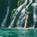 waterfall in Plitvice Lakes National Park, Plitvička Jezera, Croatia